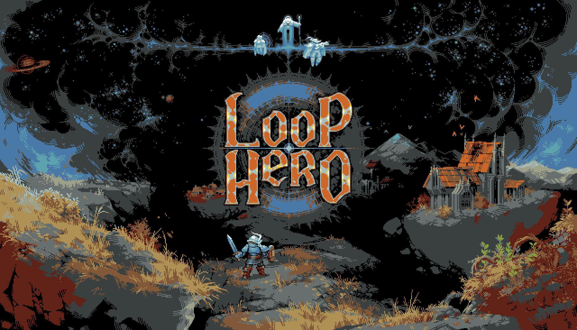 A knight prepares to begin an adventure in Loop Hero