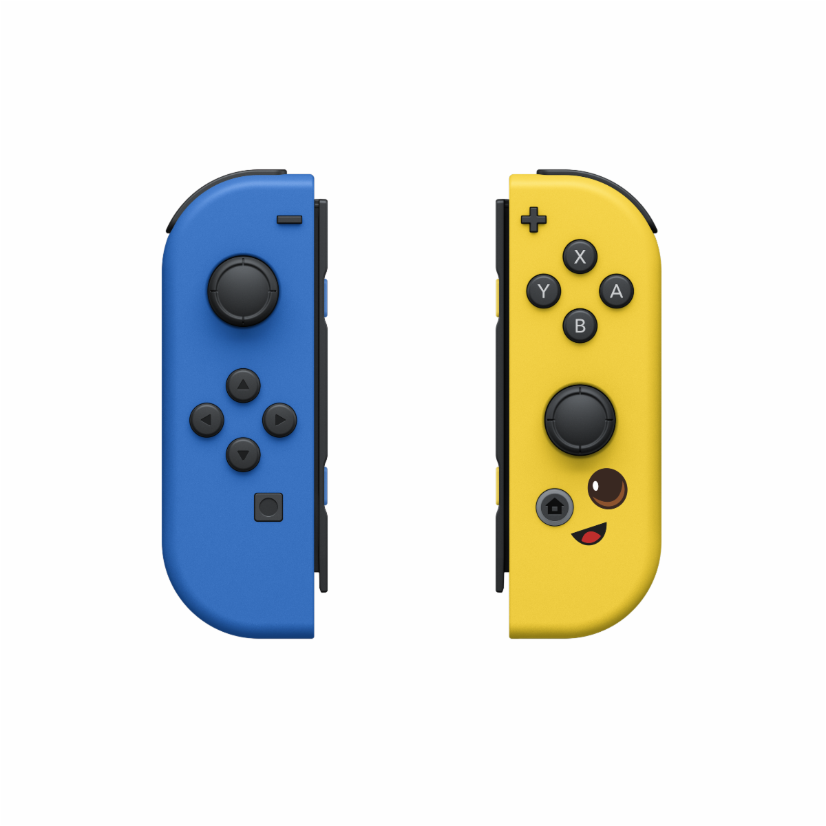 Fortnite Joy-Cons in blue and yellow