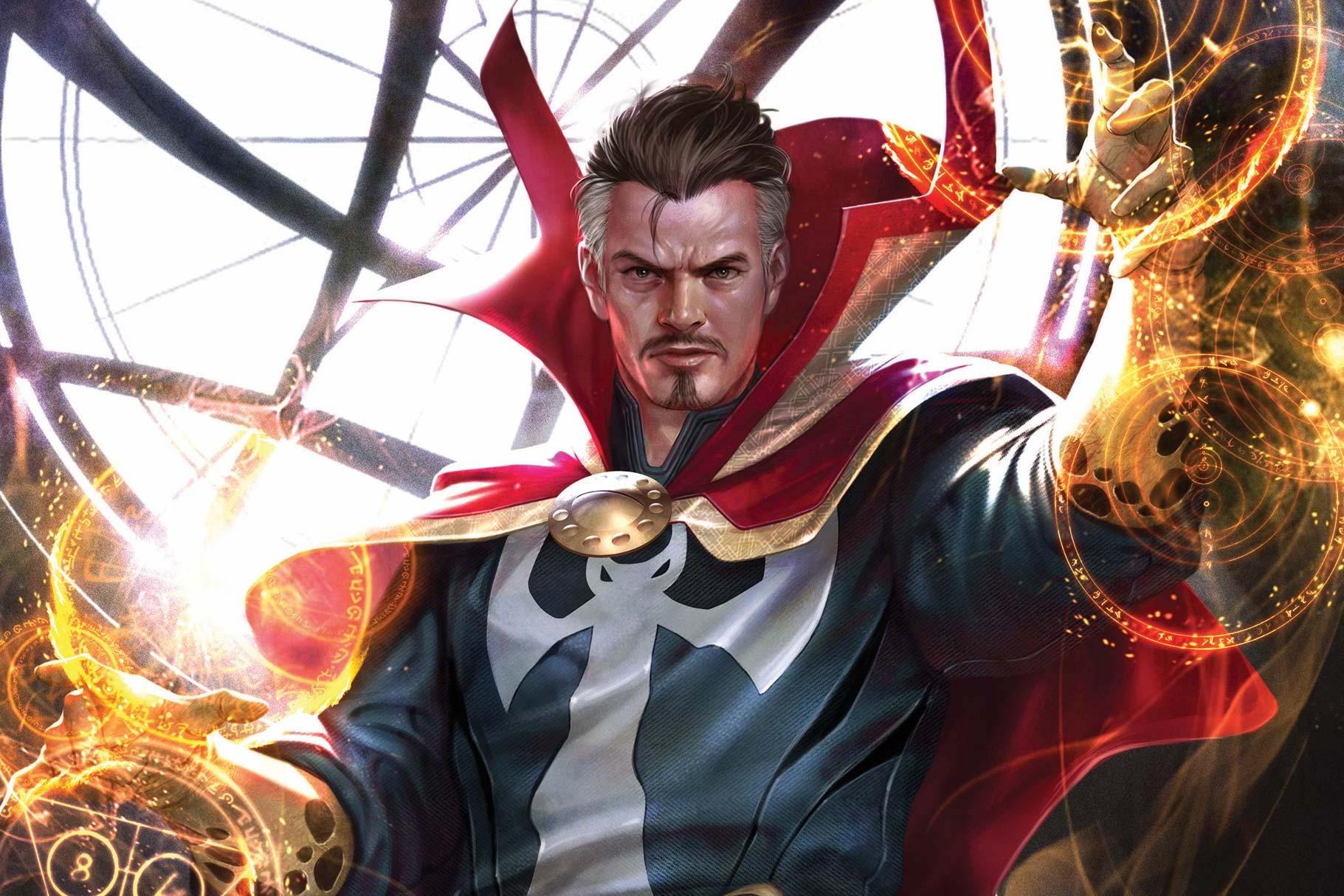 Doctor Strange wields his mystical arts in the Sanctum Sanctorum on the cover of Marvel Tales: Doctor Strange, Marvel Comics (2020).