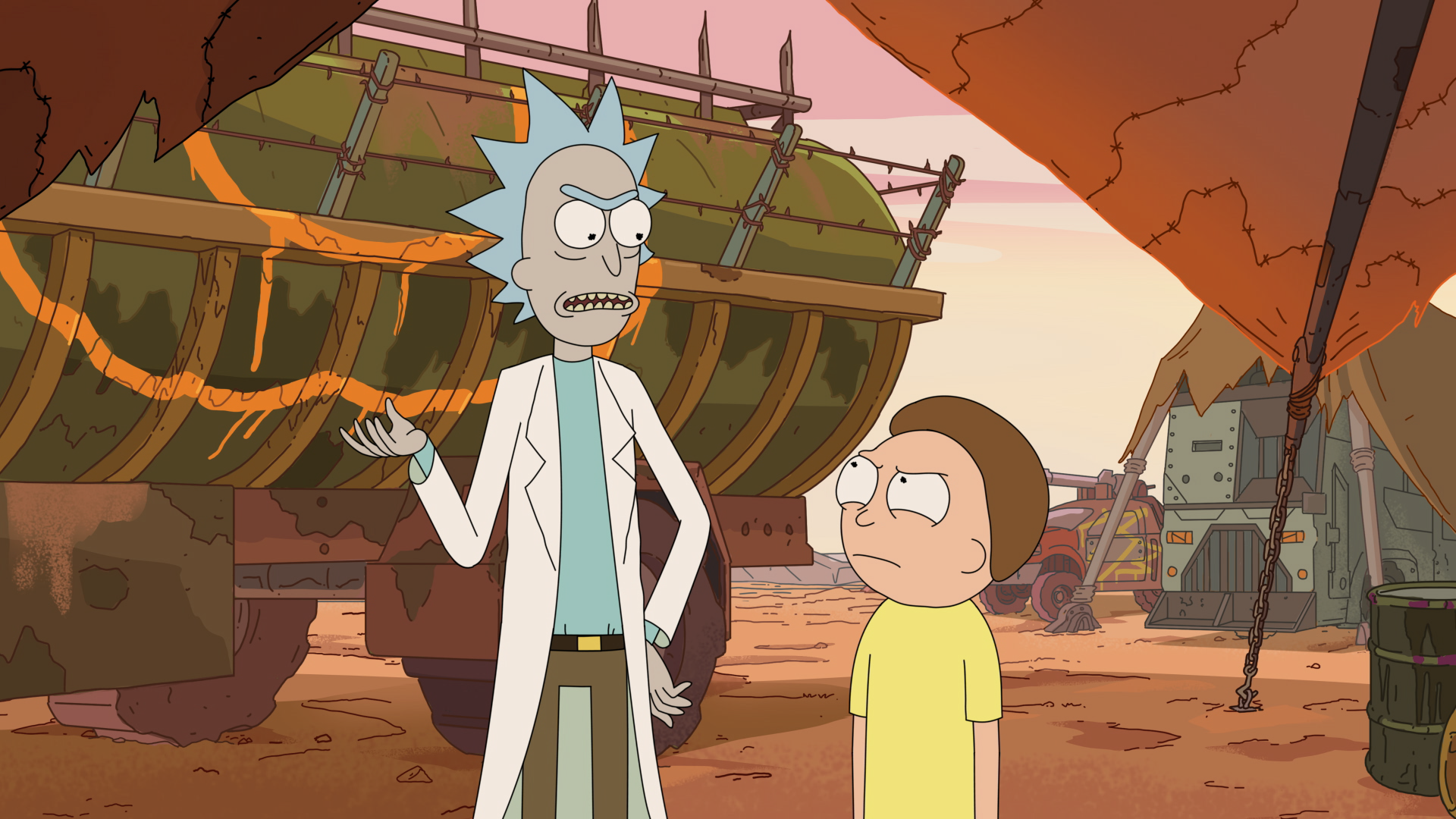 Rick and Morty - Rick and Morty in wasteland