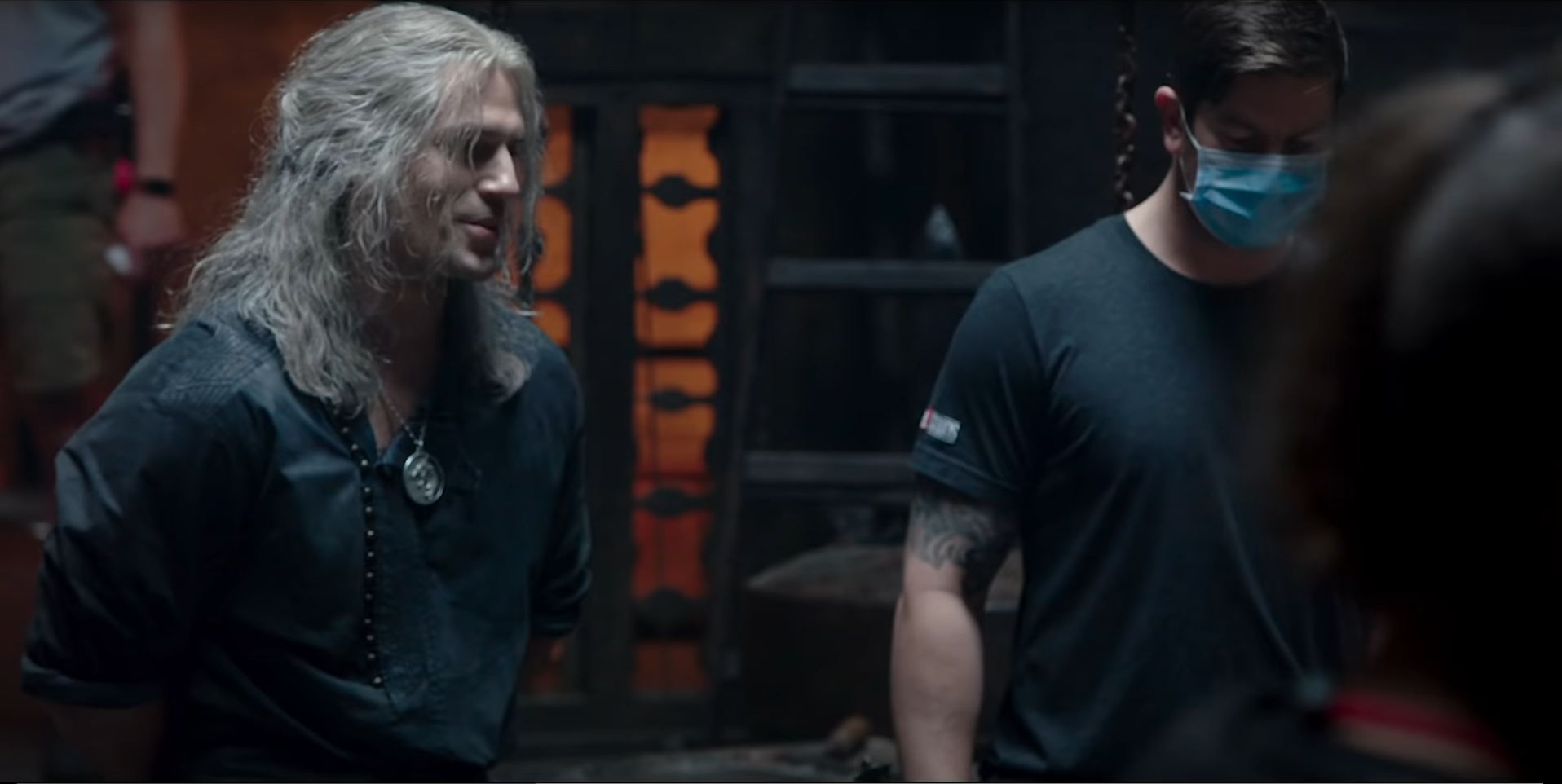 Henry Cavill as Geralt on the set of Netflix's The Witcher season 2