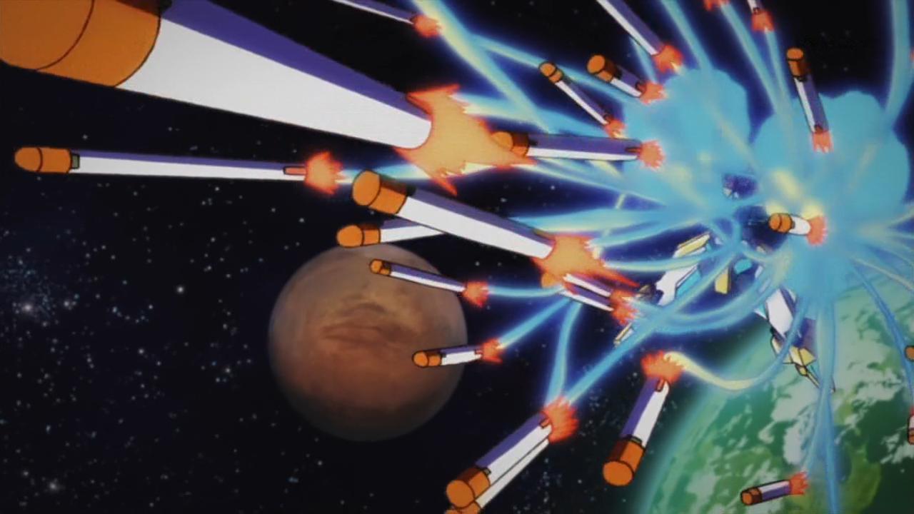 "the ""kitano circus"" missile effect in Shirobako"