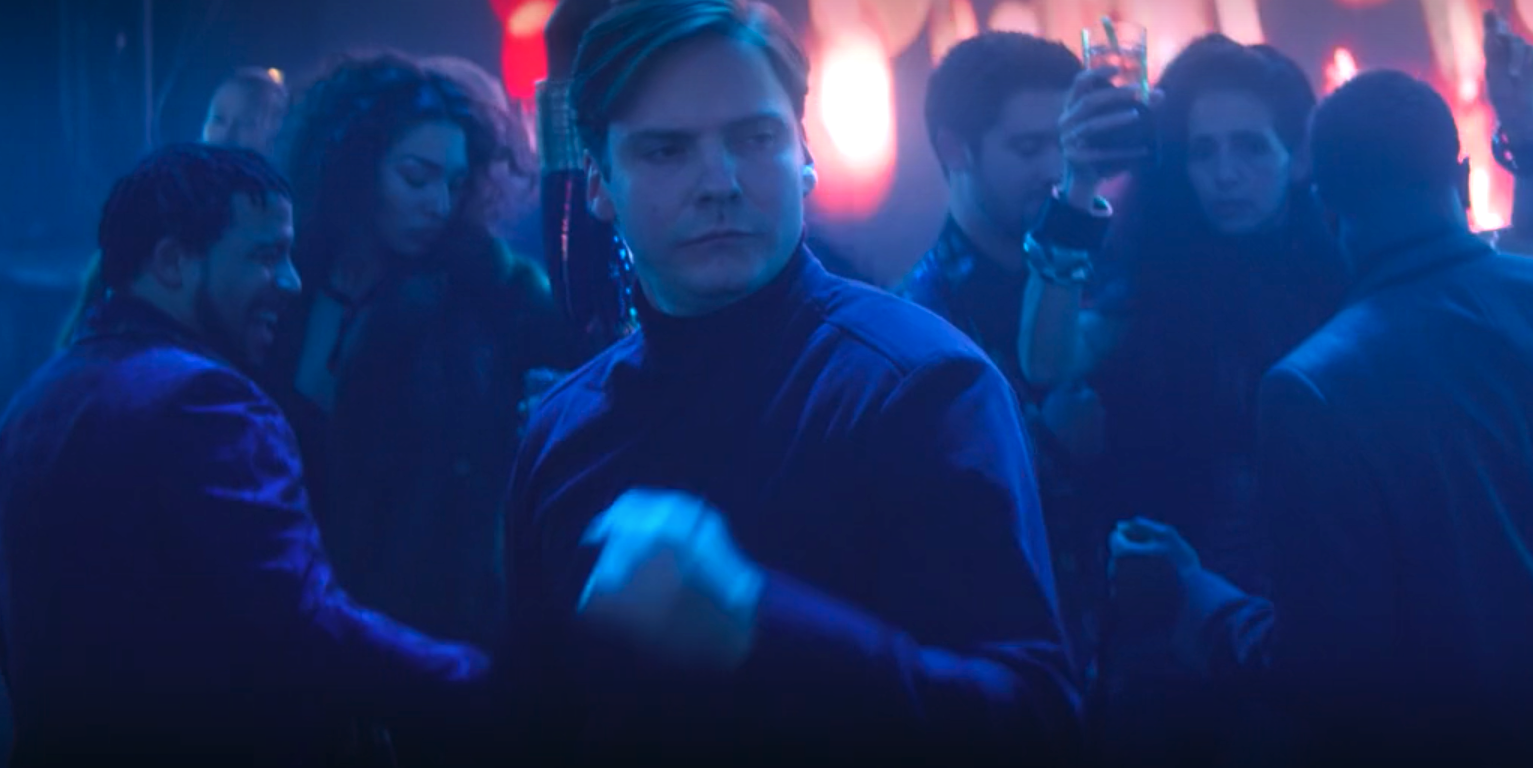 Daniel Brühl as Baron Zemo dancing in The Falcon and The Winter Soldier