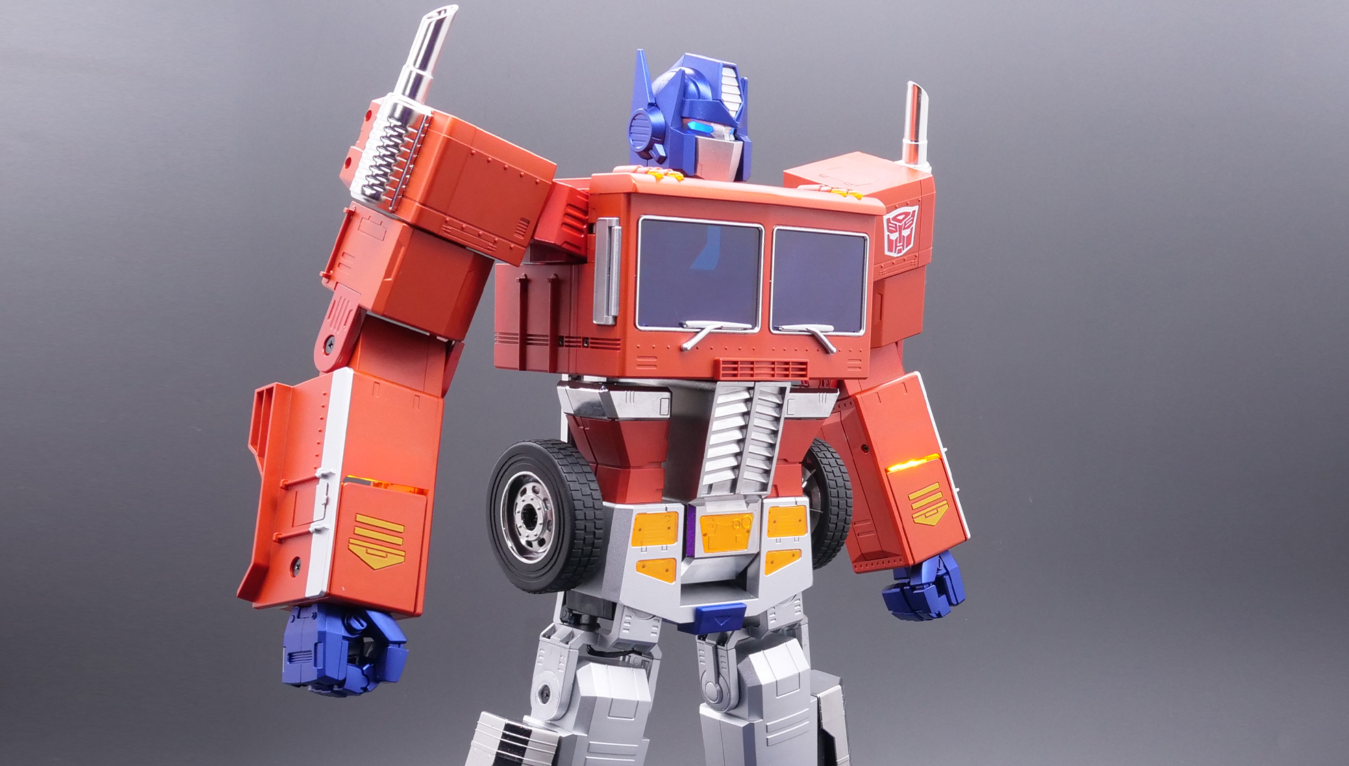 Optimus Prime toy that can transform on its own from Hasbro