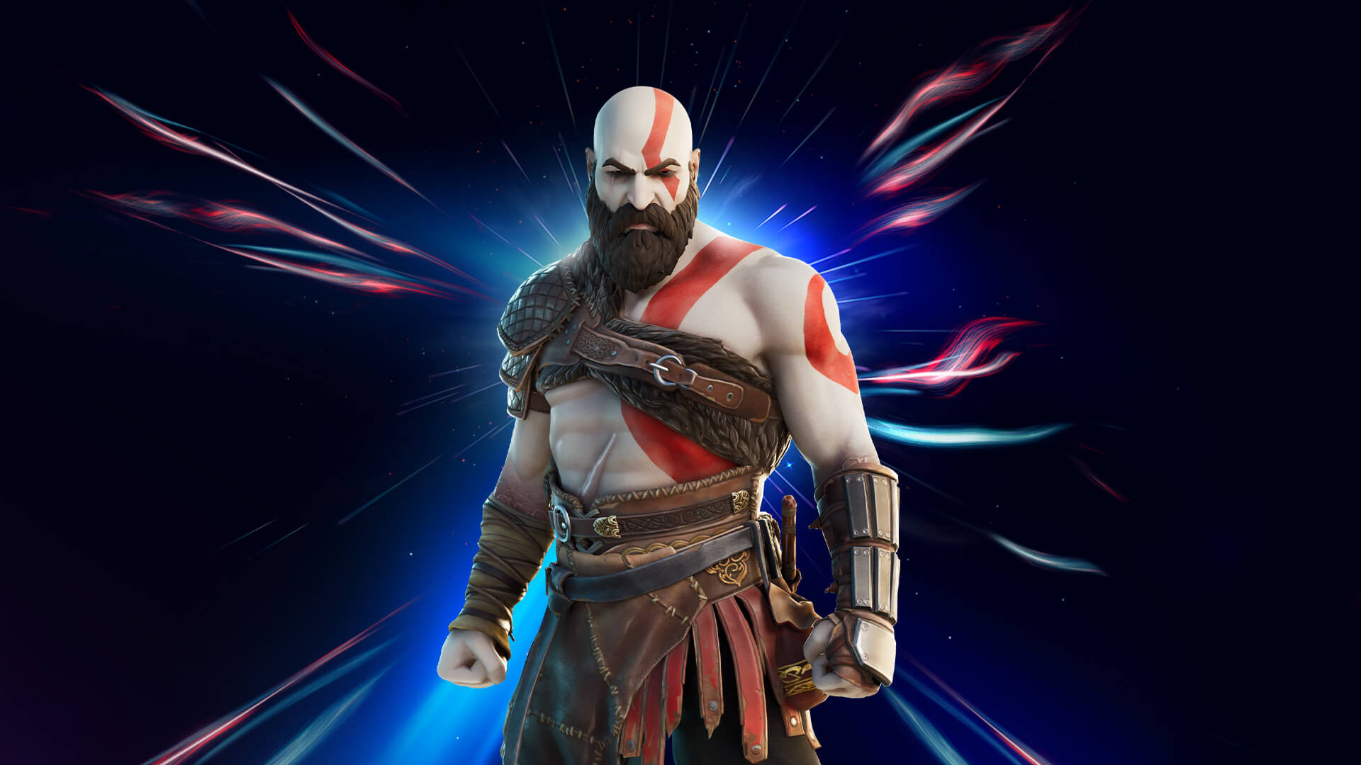 artwork of God of War's Kratos in Fortnite