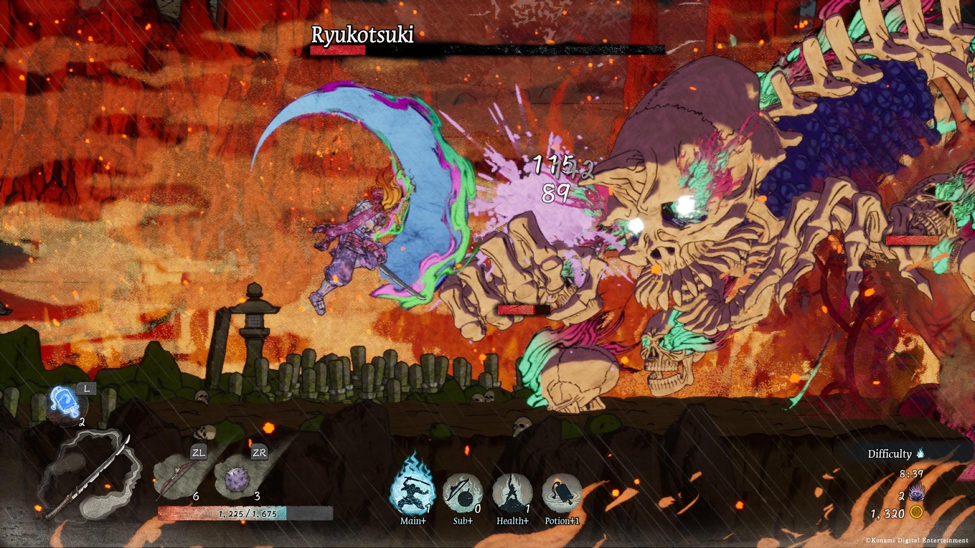 A screenshot of Getsu Fuma Den: Undying Moon