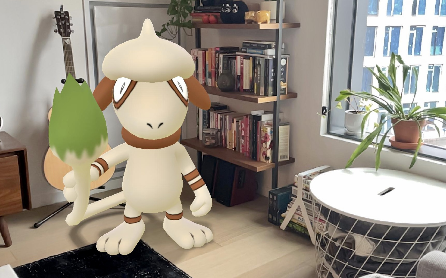 Smeargle appears in an apartment in a snap from Pokemon Go