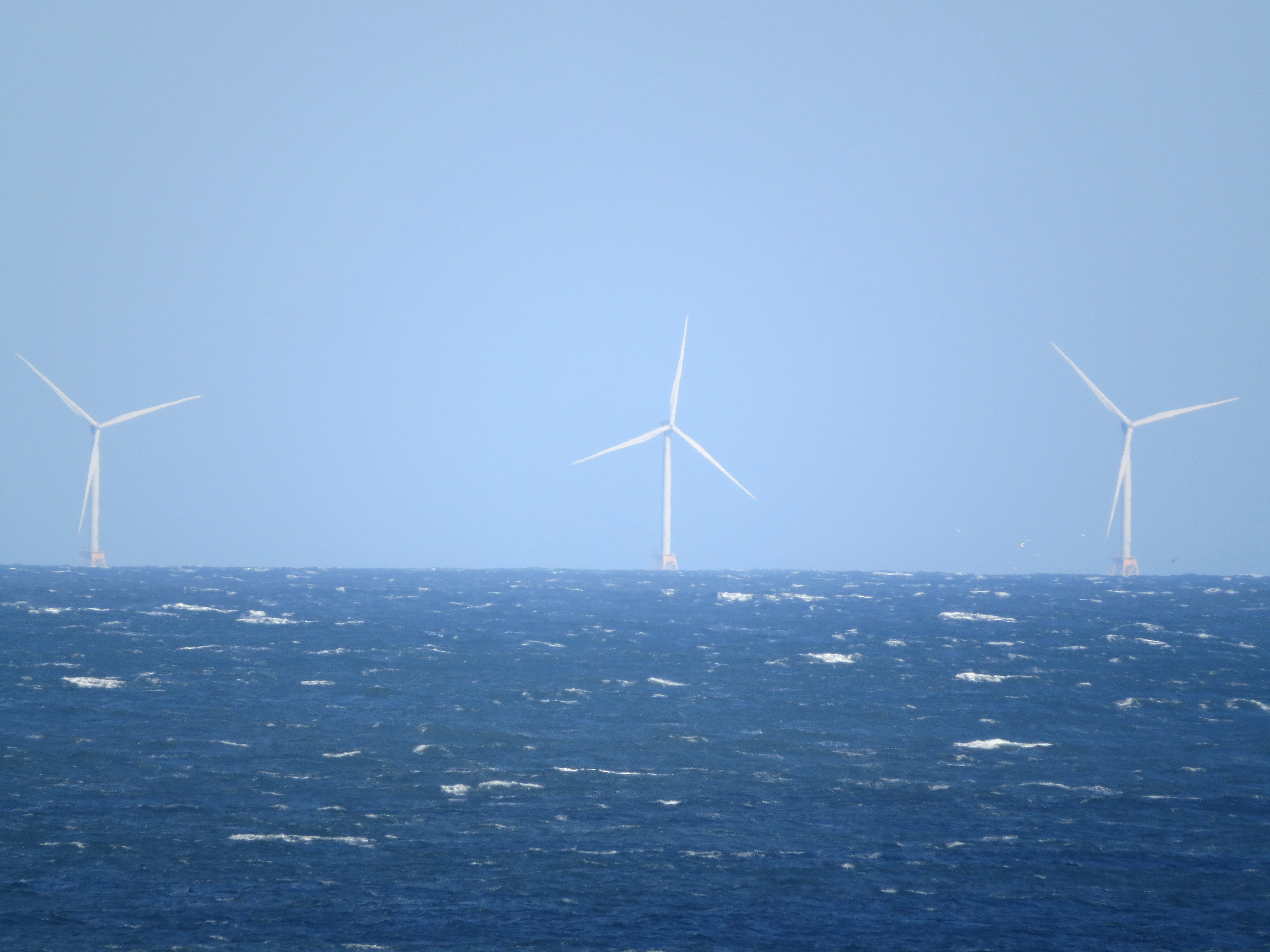 Block Island wind farm as seen from Montauk Point, New York