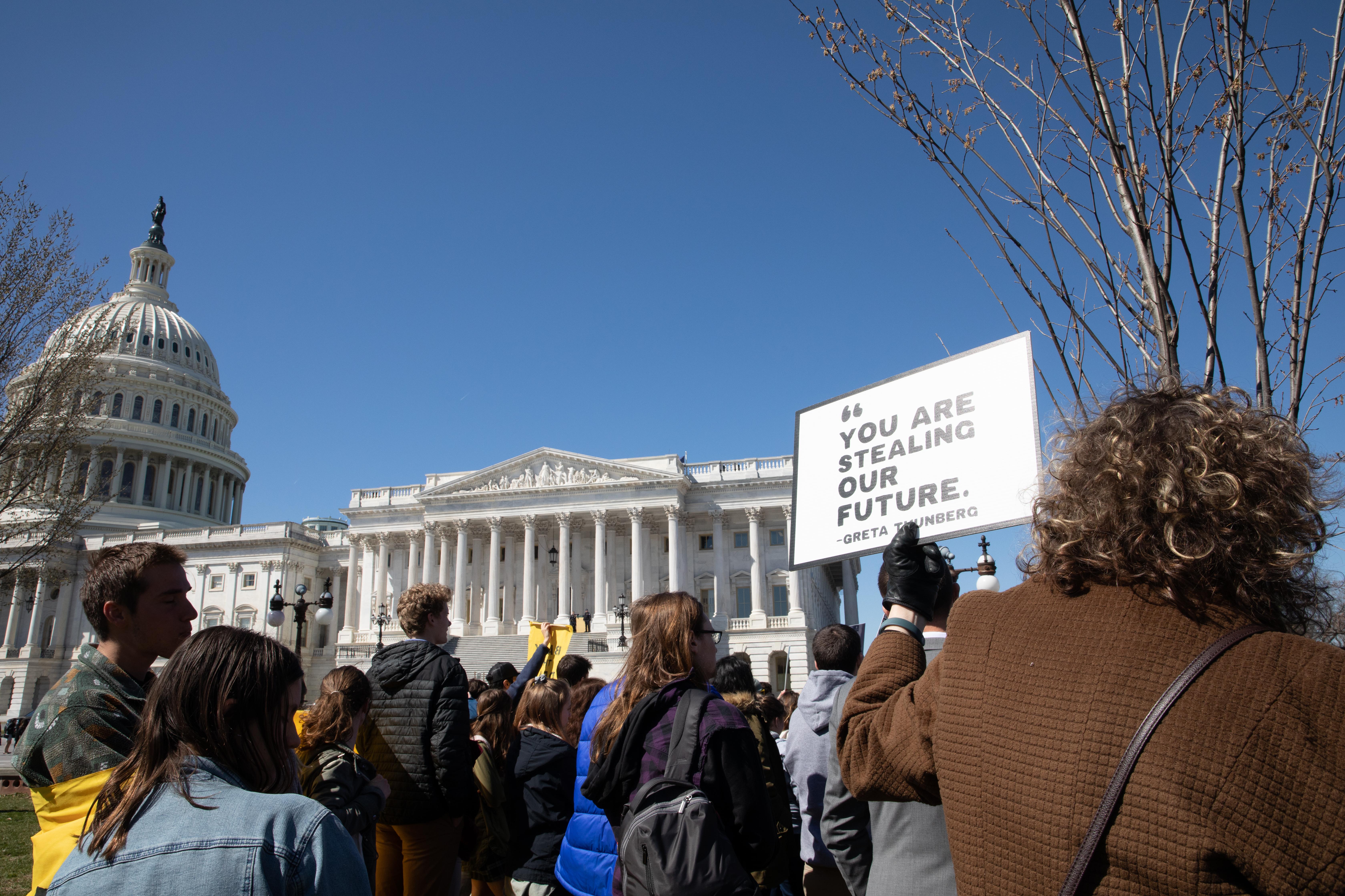 Activists demand senate pass 'Green New Deal' Resolution