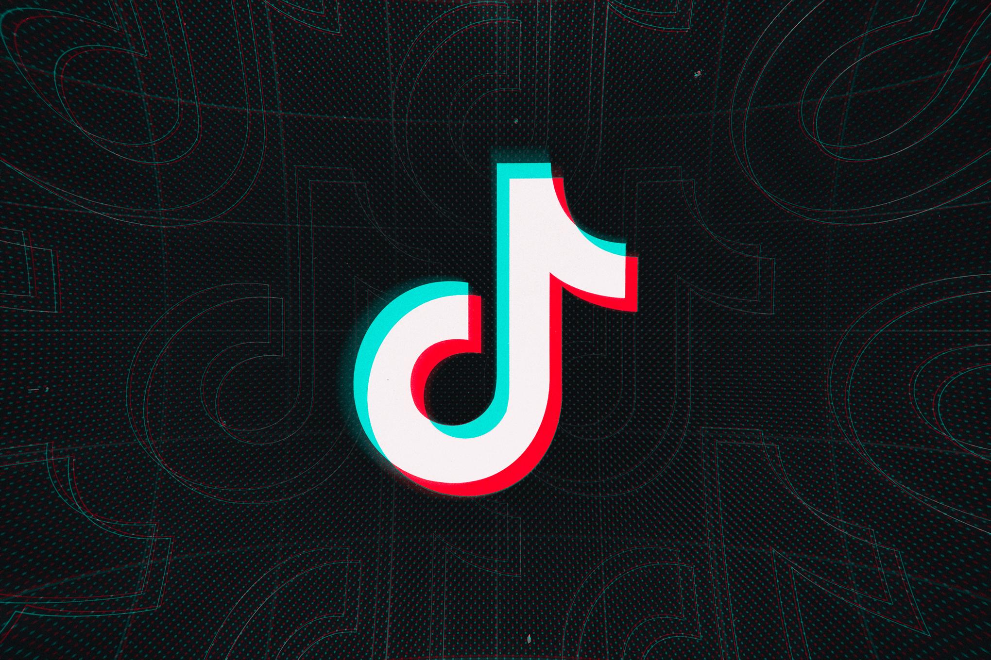 The TikTok music note logo against a dark background.