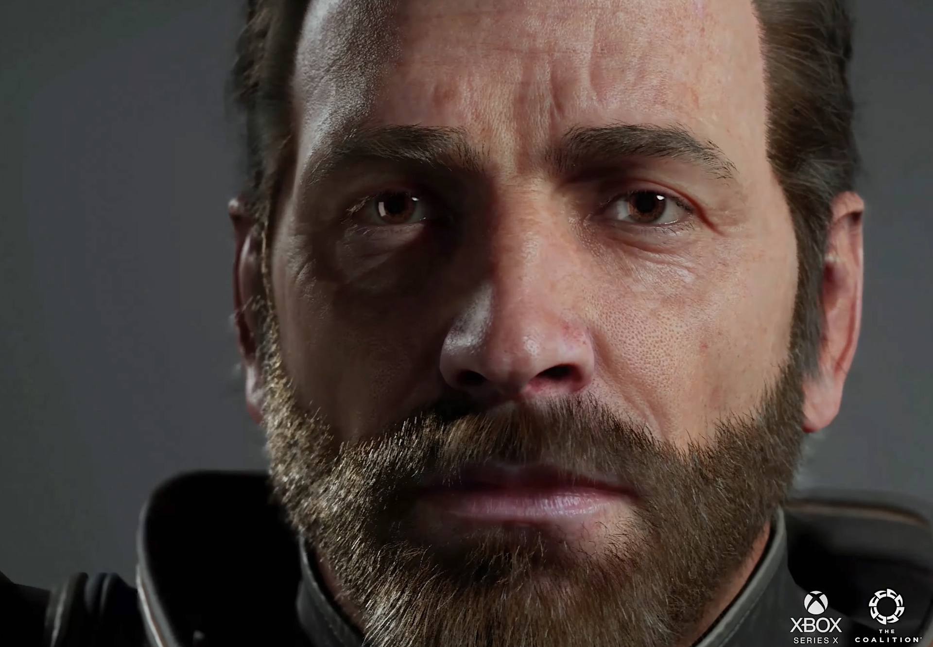 A character test render from The Coalition running in Unreal Engine 5