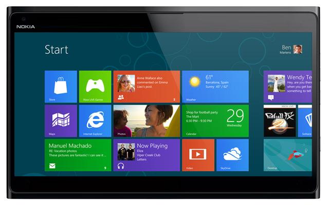 nokia windows 8 tablet mockup