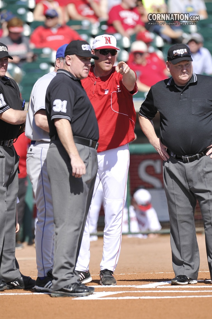 Coach Erstad is trying to figure out how to hold the fire to his team's feet.  Photo by Dennis Hubbard.