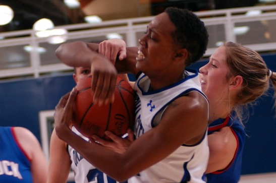 Desiree Jeffries sinks a team-high 55.8% of her shot attempts and rakes in six rebounds a night for the top-ranked OCU Stars.