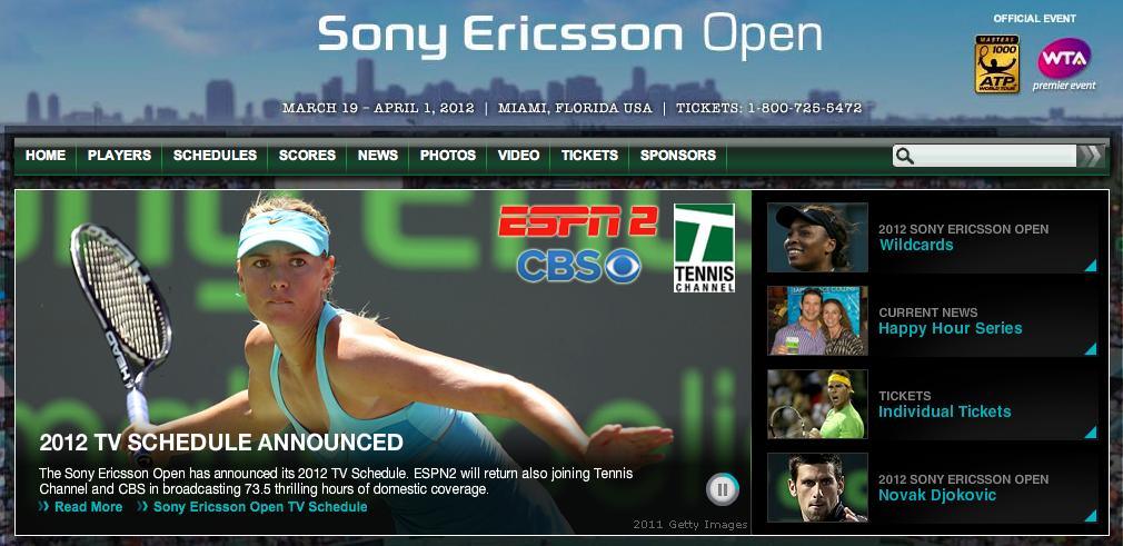 Sony Ericsson Open screencap