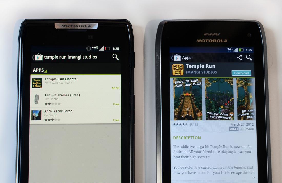 Temple Run Moto Razr & Droid 4