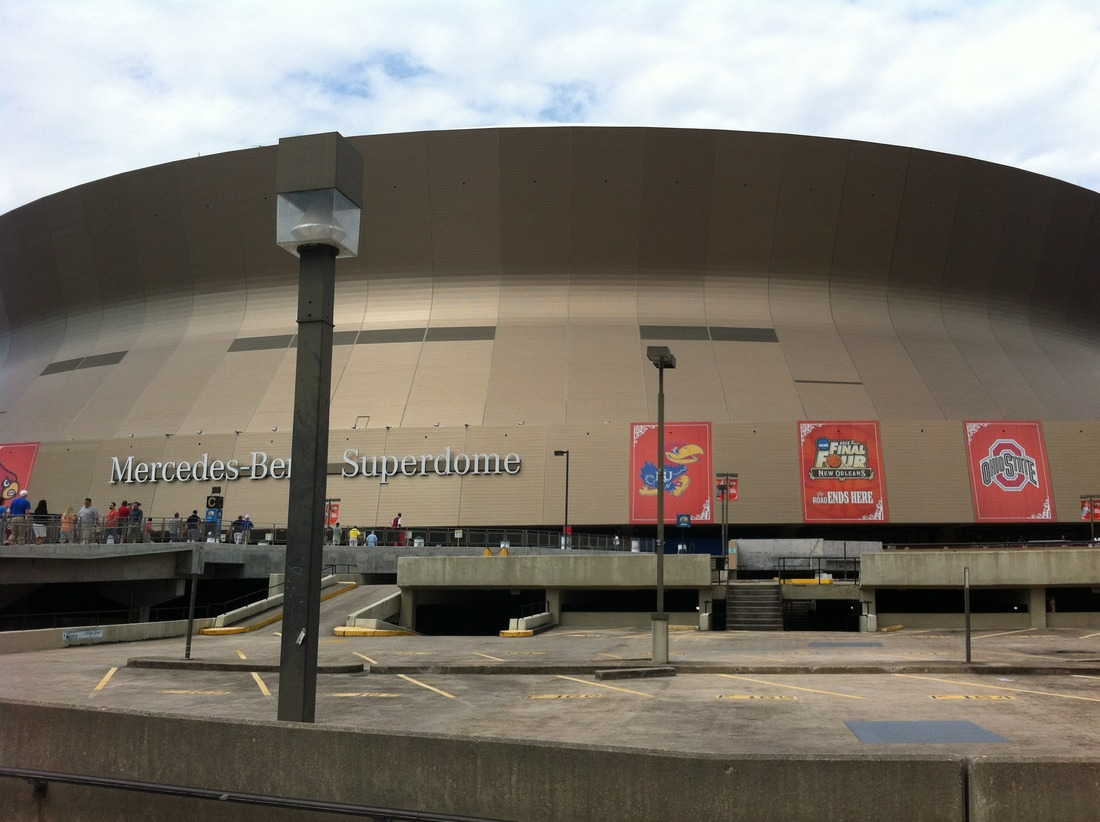 The Superdome where we entered on Friday.
