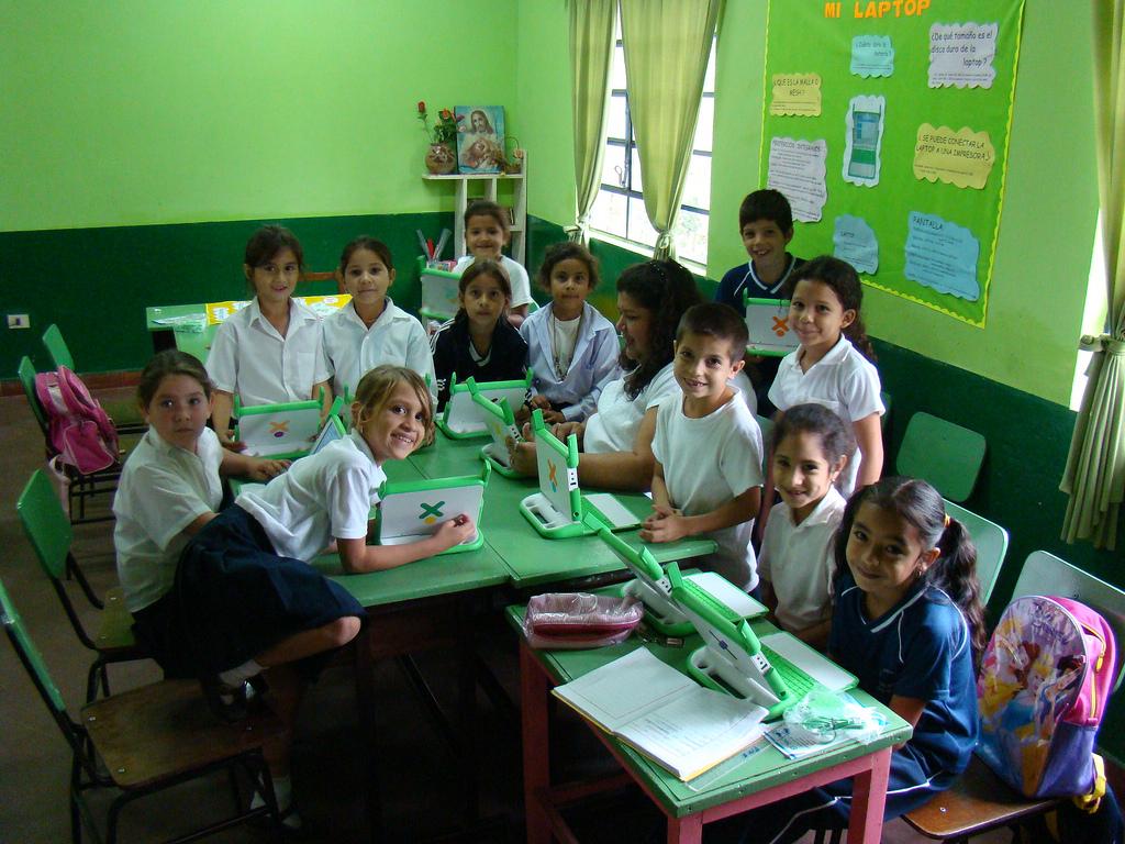 FLICKR OLPC classroom students
