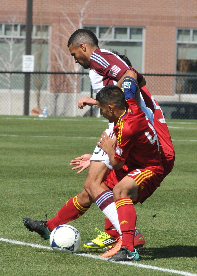 Every time Real Salt Lake and Colorado takes the pitch there will be some battles, it was the same on Sunday in the reserve match. (photo by me)