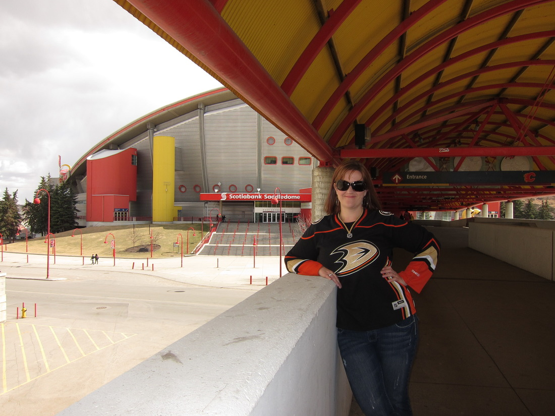 SK in Calgary at the Saddledome