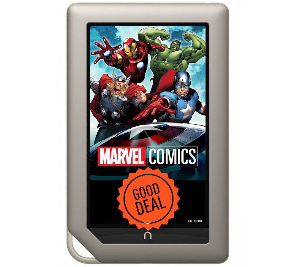 Good deal: Nook Tablet marvel comics