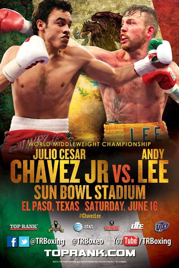 Julio Cesar Chavez Jr and Andy Lee will meet at the Sun Bowl on June 16, and tickets are on sale May 5.