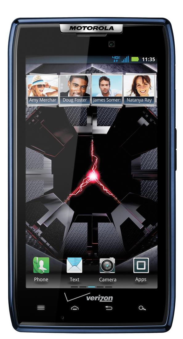 Motorola Droid RAZR Blue