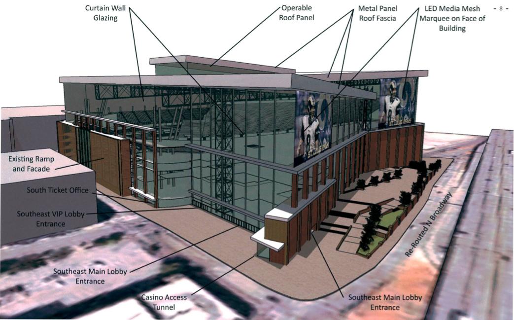 The new Edward Jones Dome, as per the Rams' counterproposal.
