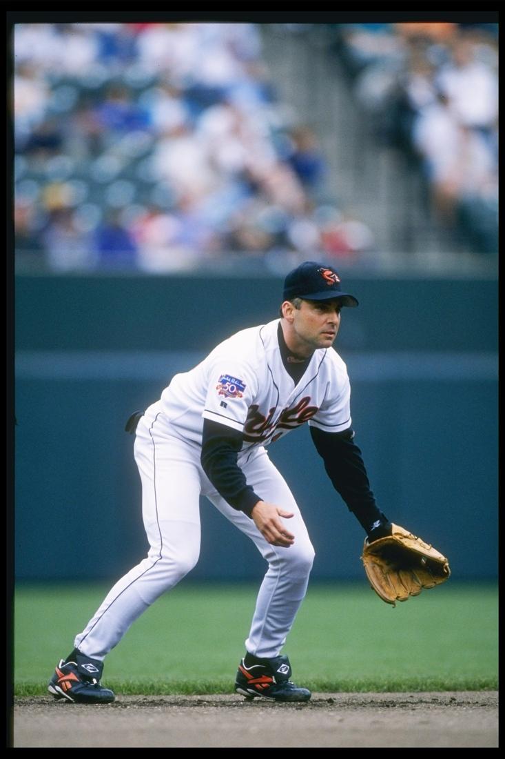 Mike Bordick, April 1997; Mandatory Credit: Doug Pensinger /Allsport