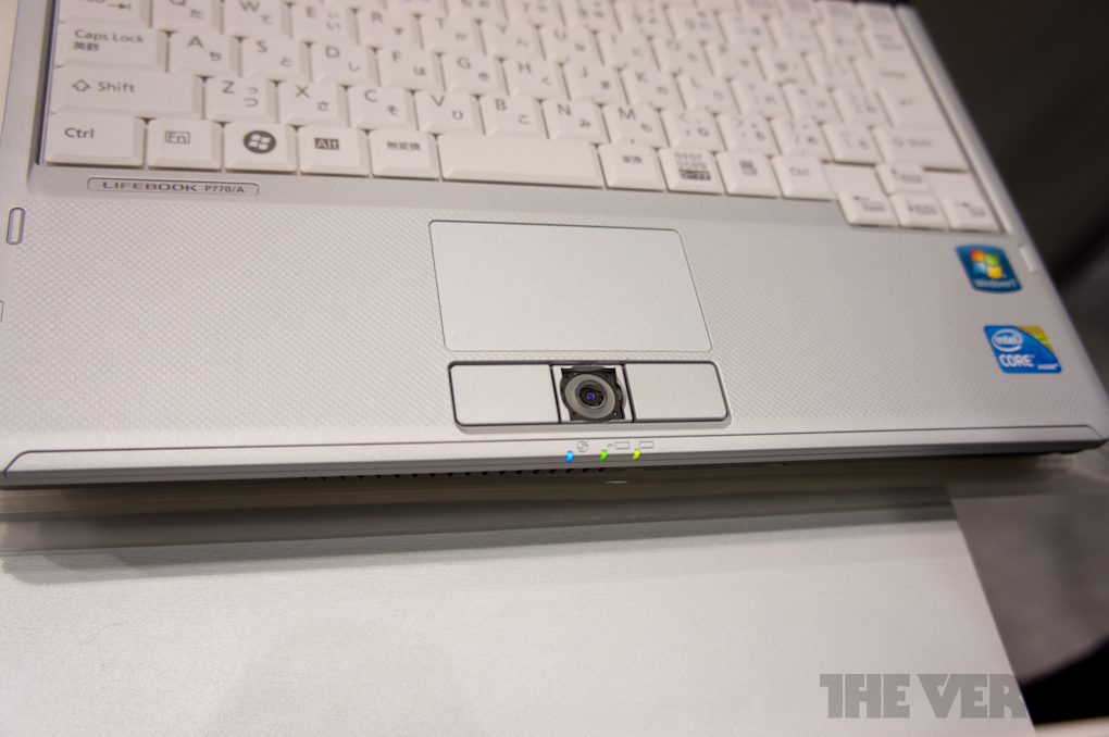 Gallery Photo: Fujitsu palm scanning authentication for laptops hands-on gallery