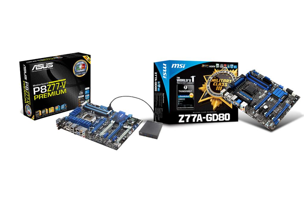 Thunderbolt motherboards