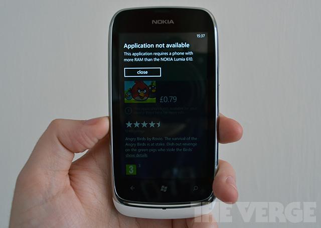 Windows Phone Tango RAM warning