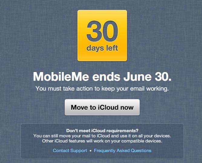MobileMe 30-day warning