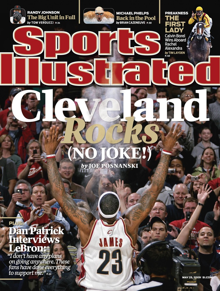 LeBron James makes his 9th appearance on the cover of Sports Illustrated.
