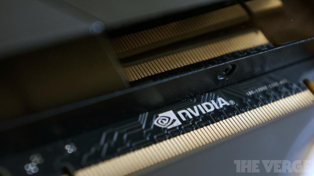 Nvidia logo stock