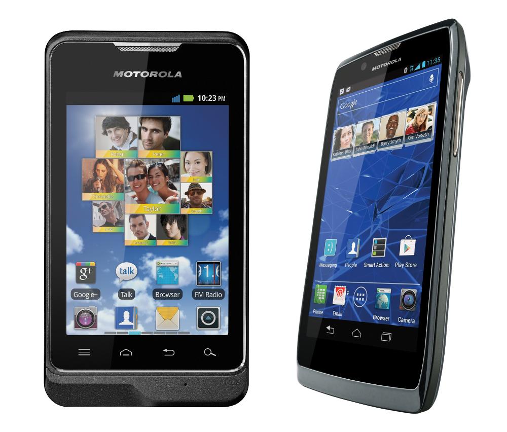 Motorola Motosmart and Razr V