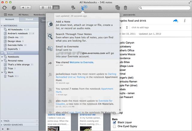 Evernote Mac 3.2