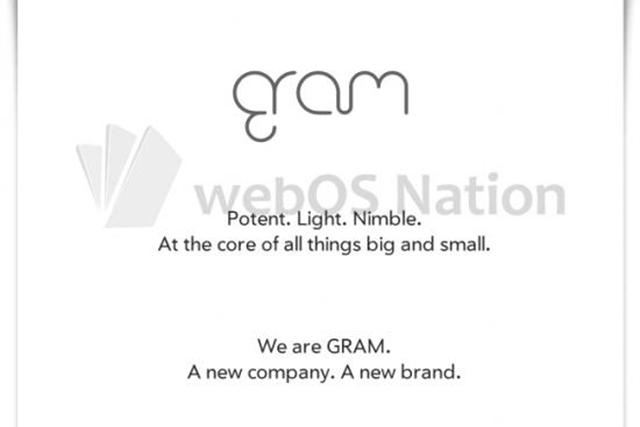 gram logo (webos nation)