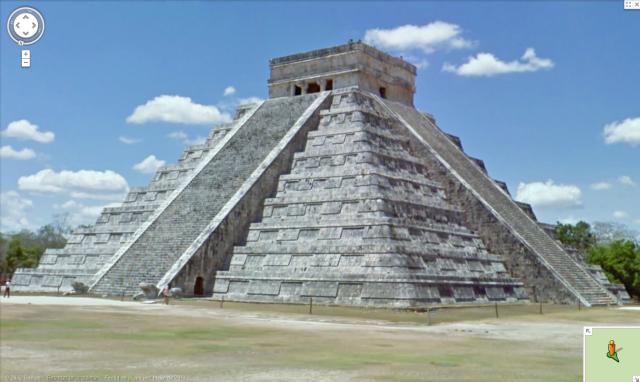 Google Street View Mexico Ruins