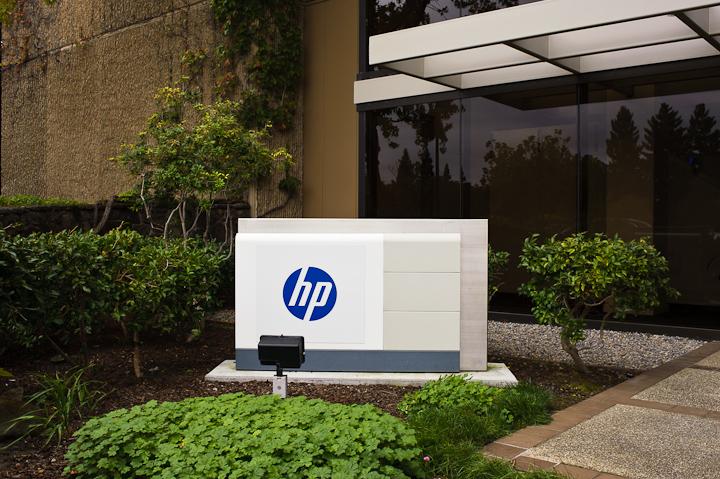 HP logo stock