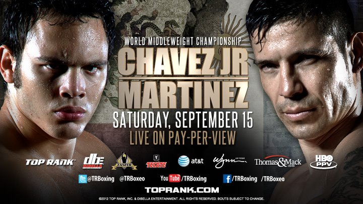 Julio Cesar Chavez Jr and Sergio Martinez have sold out the Thomas & Mack Center in Las Vegas for Saturday's fight.