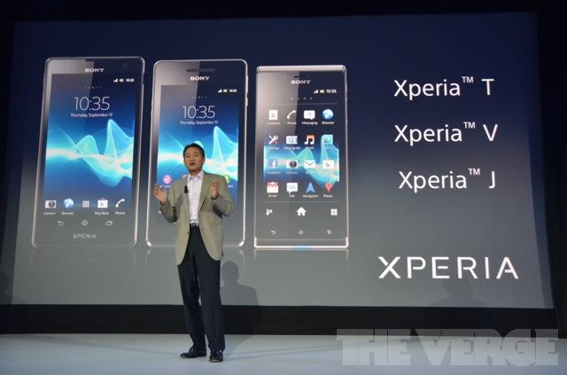 Sony Xperia smartphones at IFA