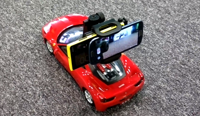 Lumia 920 on an RC car