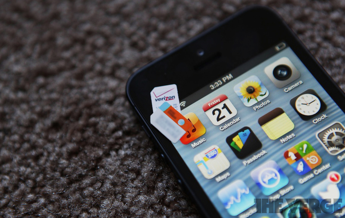 iPhone 5 Verizon/AT&T SIM switch