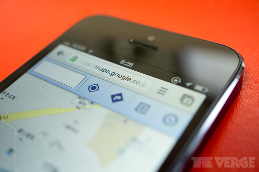chrome iphone 5 maps stock 1020
