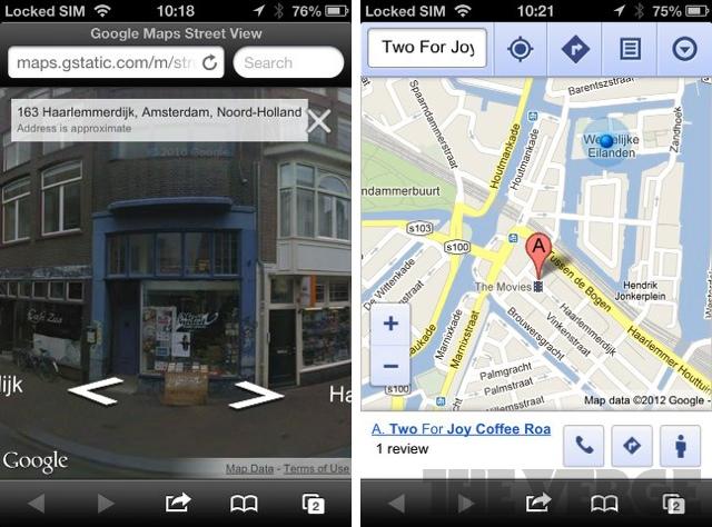 Google street view ios web app