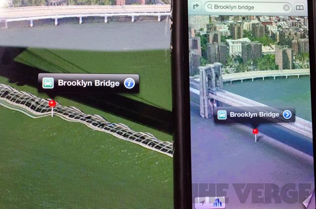 Apple Maps Fixed Brooklyn Bridge