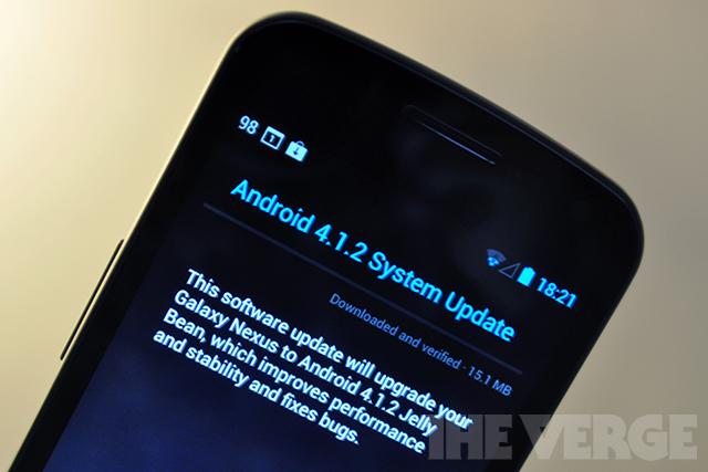 Galaxy Nexus 4.1.2 update