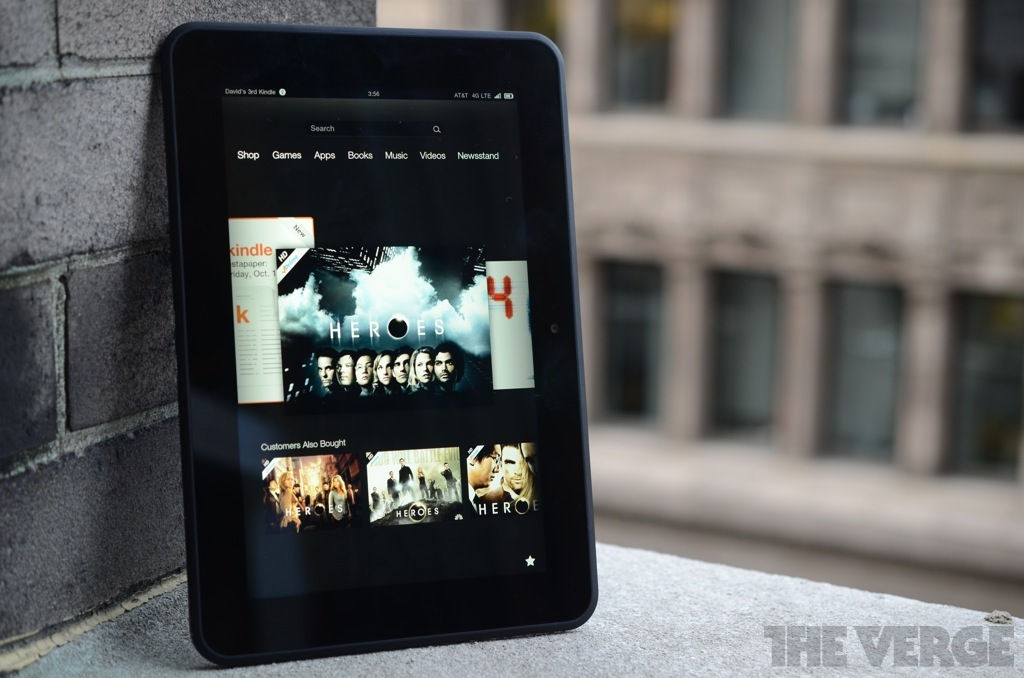 Kindle Fire HD 4G LTE (8 9-inch) | Amazon - The Verge
