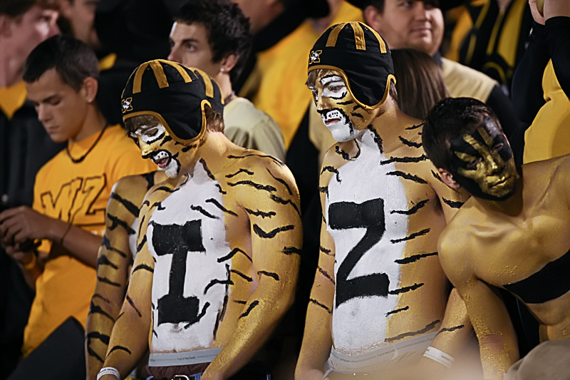 """Last time Texas visited Columbia, these guys ended up sad. What happens this time around? (<a href=""""http://www.rockmnation.com/2009/10/25/1100585/rock-m-photo-gallery"""" target=""""new"""">Photo via Bill Carter</a>)"""